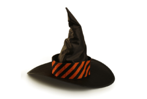 Image of a battered old witch's hat