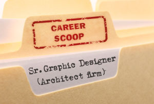Career Scoop file, on what it's like to work as a Senior Graphic Designer in an architect's firm