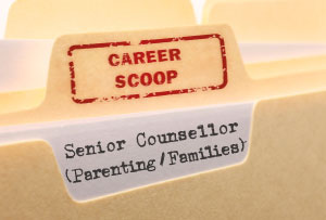 Career Scoop file, on what it's like to work as a Senior Counsellor, with Families