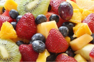 Picture of fruit salad, as a metaphor for someone trying to write every detail of their career - relevant or not - in their resume and job applications