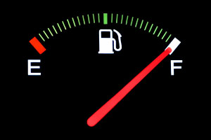 Picture of a full fuel gauge, as a metaphor for feeling energised in your job and career