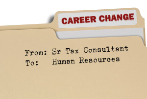 Career Change Folder - from career as a Senior Tax Consultant to one in Human Resources